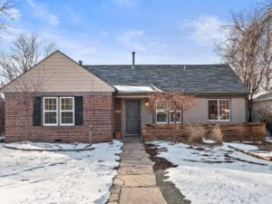 Sold! Bright and updated mid-century red-brick ranch tucked between Stapleton and Park Hill.